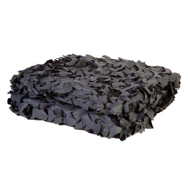Black Fire Retardant Camo Netting