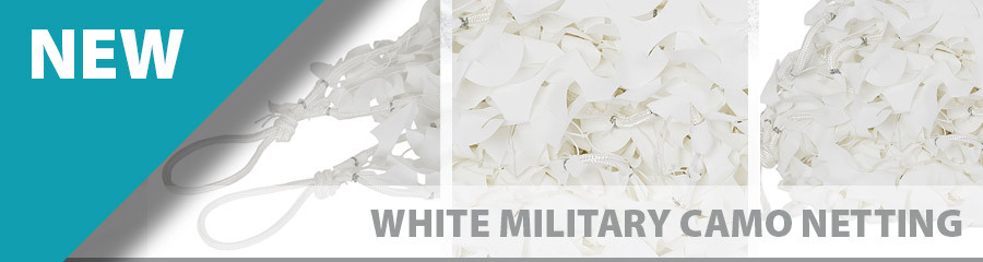 White Military Camouflage Netting