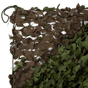 Woodland Fire Retardant Camo Net With Net Backing