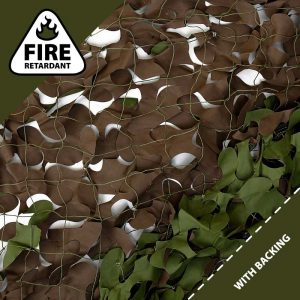 Woodland Camo Netting, Fire Retardant