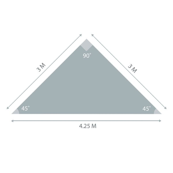 Triangle Sunshade 3m