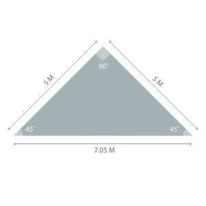 Triangle Sunshade 5m