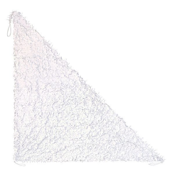 white triangle net choice of sizes from 2.5m x 2.5m