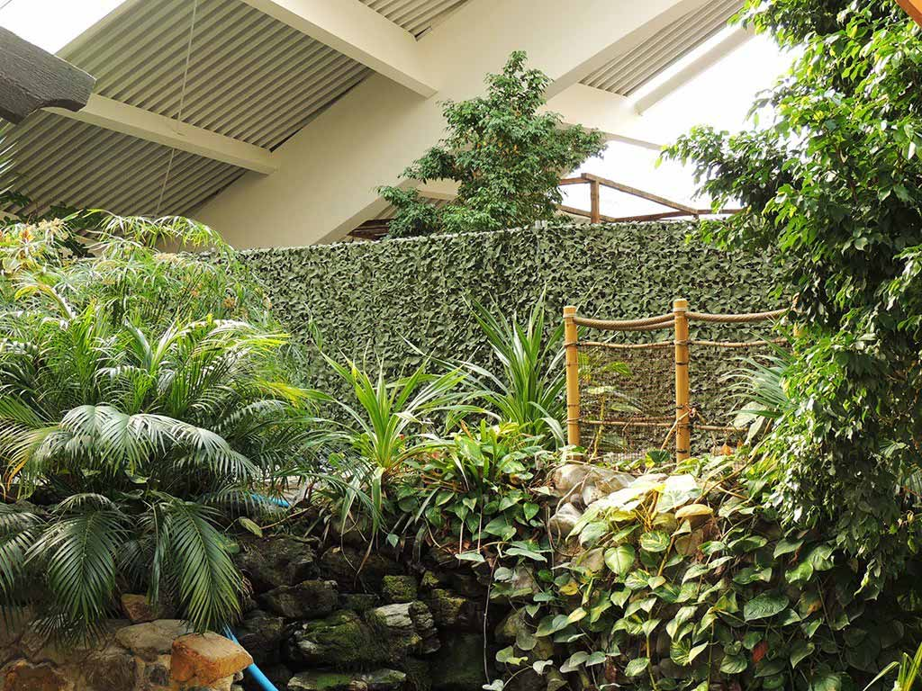 Camo Netting used as screen at Center Parcs